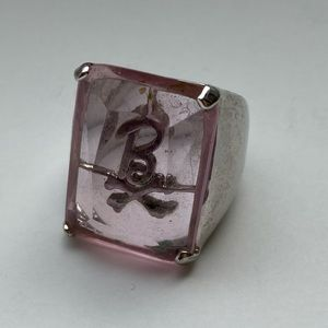 """2 for $20/Pink """"B"""" Cocktail Ring"""